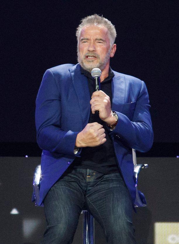 Näyttelijä puhui Kiovassa  järjestetyssä tapahtumassa.