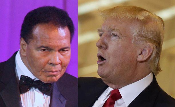 Muhammad Ali tylytti Donald Trumpia joulukuussa.