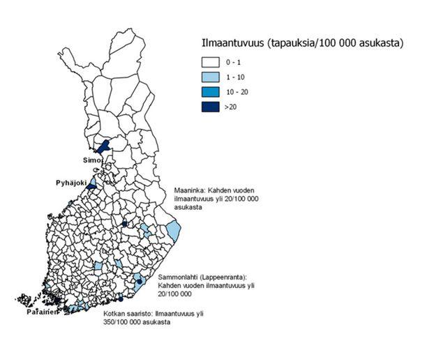 THL suosittelee, että puutiaisiaivokuumerokotus lisättäisiin kansalliseen rokotusohjelmaan Paraisilla ja Simon kunnassa.