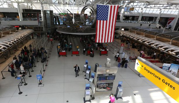 Kuva John F. Kennedyn kansainväliseltä lentoasemalta New Yorkista lokakuussa 2014.