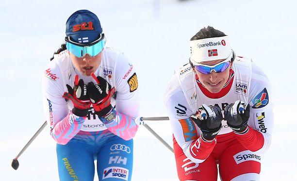 Krista Pärmäkoski ja Marit Björgen ovat ennakkosuosikkeja sunnuntaina Lahdessa maastohiihdon maailmancupissa.