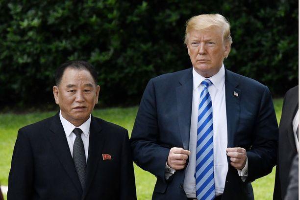Kimin ja Trumpin kokoeron pitäisi olla lähempänä tätä. Kuvassa diktaattorin luottomies Kim Yong-chol Washingtonissa kaksi viikkoa sitten.