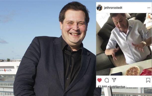 Jethro Rostedt on laihtunut jo yli 30 kiloa. Silti hän rakastaa tuunattua einespitsaa.