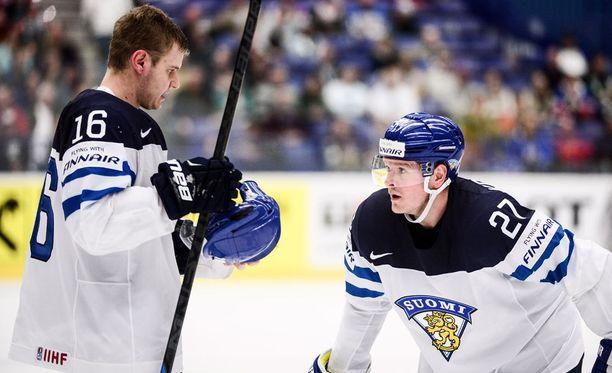 Aleksander Barkov ja Petri Kontiola kohtaavat tänään Venäjän.