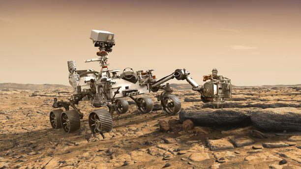 Nasan Mars 2020 -mönkijä on sunnilleen henkilöauton kokoinen ja samalla suurin, mitä Marsiin on koskaan lähetetty. Se painaa 1000 kiloa eli 100 kertaa enemmän kuin ensimmäinen Mars-mönkijä Sojourner.