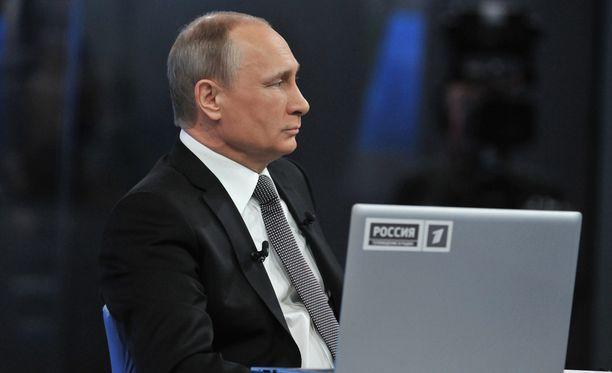 """Professorin mukaan Venäjä-kannanotosta seurannut keskustelu osoittaa, että """"tietynlainen nöyristely ja Venäjän pelko on aika syvällä"""". Kuvassa Venäjän presidentti Vladimir Putin."""