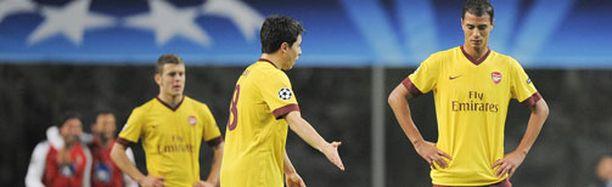 Arsenal hävisi kaksi viikkoa sitten Bragassa.