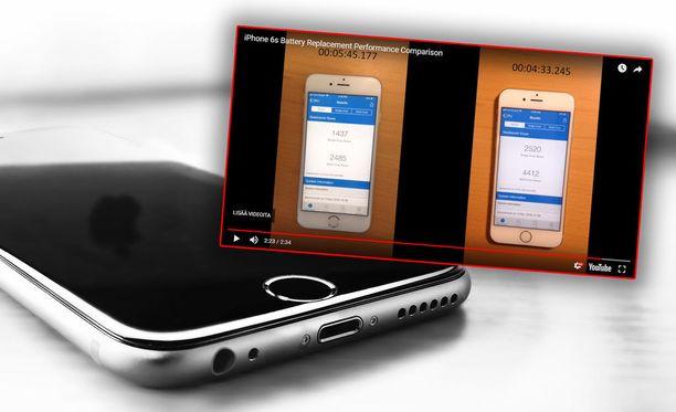 Akun vaihtaminen vaikuttaa Iphonen suorituskykyyn.