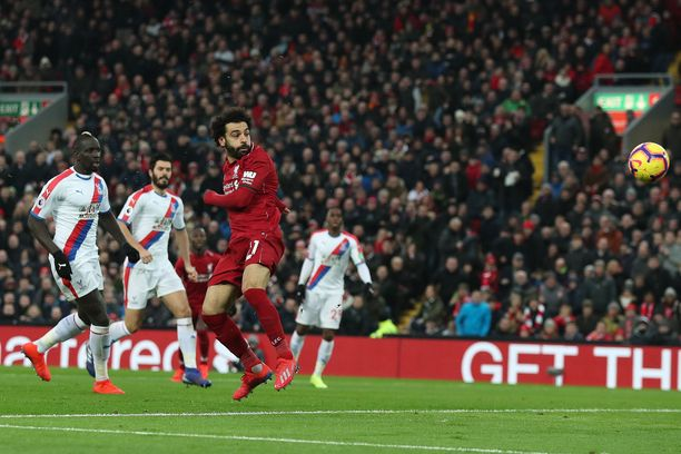 Mohamed Salah iski kahdesti Liverpoolin 4-3-voitossa.