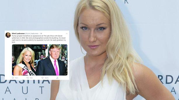 Ninni Laaksonen kruunattiin Miss Suomeksi vuonna 2006.