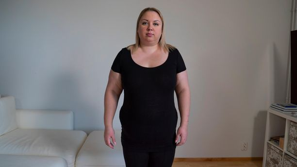 Tältä Henna Kalinainen näytti Olet mitä syöt -ohjelmaan lähtiessään.
