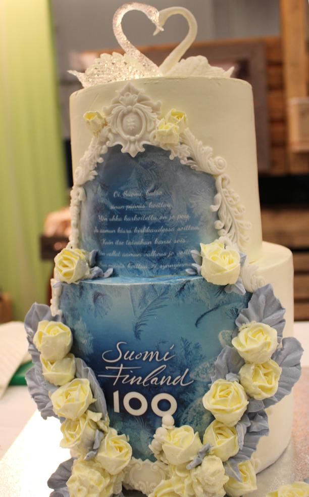 Yang Congin Suomi 100 -kakku.