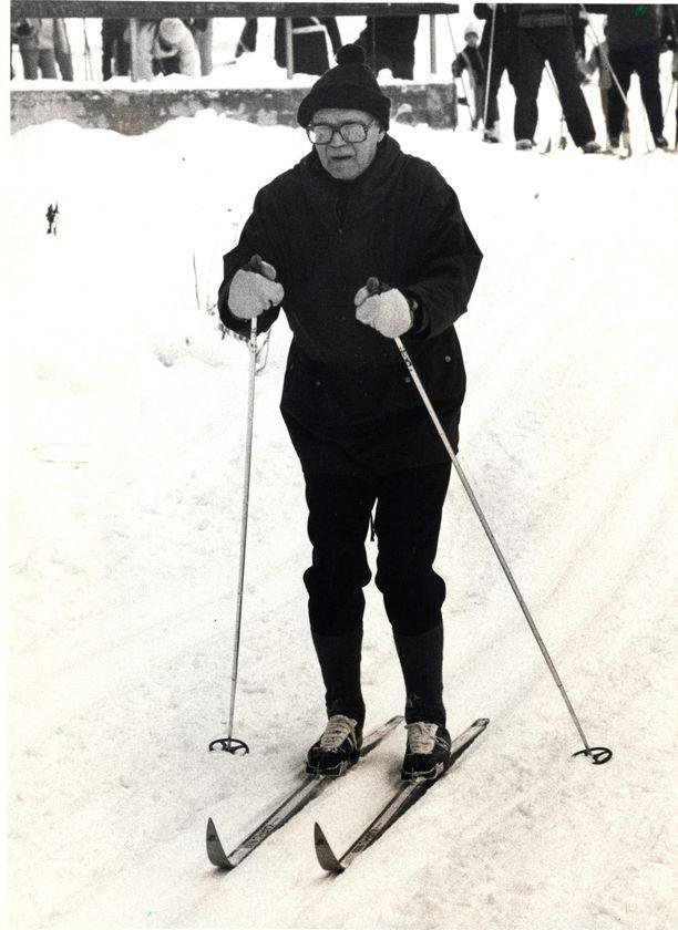 Kekkonen oli hiihtomies loppuun asti.