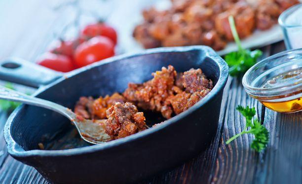 Ruskistettu jauheliha on monen ruuan perusta.