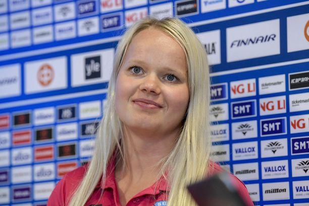 Linda Välimäki on iloinen siitä, että sai kokea edes pienen hetken maailmanmestaruuden huumaa.