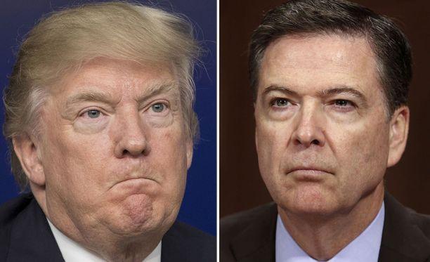 Donald Trump toivotti irtisanomalleen FBI:n entiselle johtajalle James Comeylle onnea, kun tämä todistaa Trumpin mahdollisesta painostuksesta.