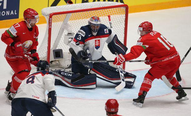 Valko-Venäjä kaatoi Slovakian.