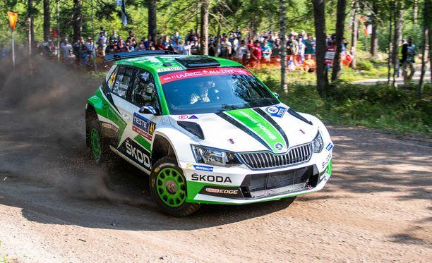 Kalle Rovanperä oli testierikoiskokeen nopein WRC2-luokan kisaajista.