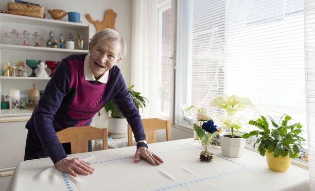 Vuonna 1924 syntynyt Siiri Rantanen on yhä hyvässä kunnossa.