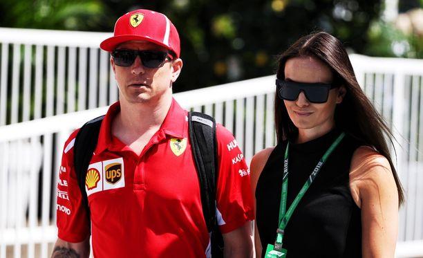Minttu Räikkönen oli kannustamassa Kimi Räikköstä Monacon GP:ssä.