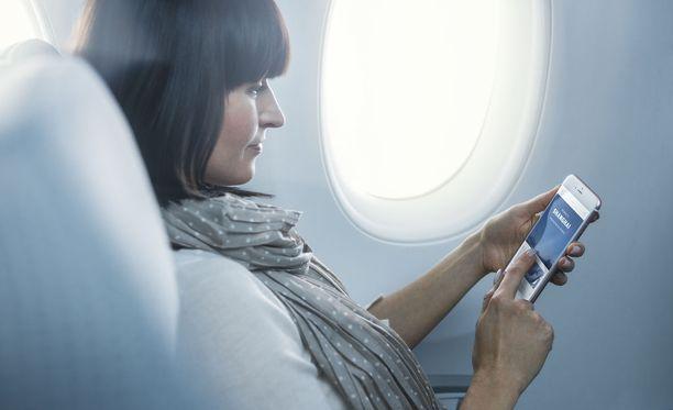 Finnair testaa nopeampaa internetyhteyttä Euroopan lennoilla.