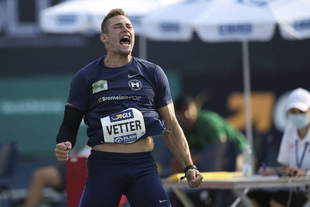 Johannes Vetter heitti 91,49 metriä Turussa.