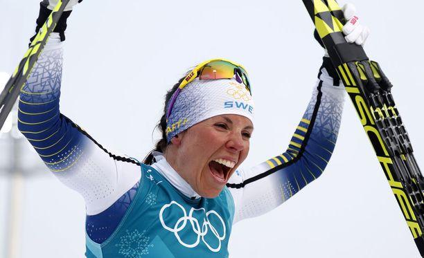 Charlotte Kalla on treenannut ahkerasti hiihtokautta varten.
