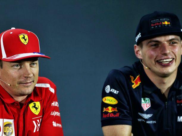 Kimi Räikkönen ja Max Verstappen olivat kauden viimeisenä GP-viikonloppuna varsin rennoissa tunnelmissa.