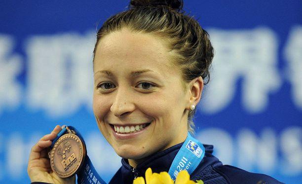 Ariana Kukors voitti maailmanmestaruuden Rooman MM-kisoissa 2009 ME-ajalla.