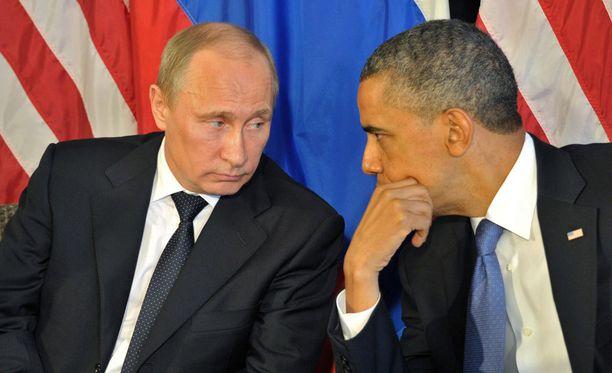 Vladimir Putin ja Barack Obama keskustelivat puhelimessa keskiviikkona.