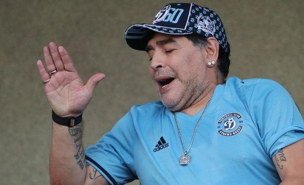 Diego Maradona on aloittanut jo seurajohtajan työt Dinamo Brestissä.