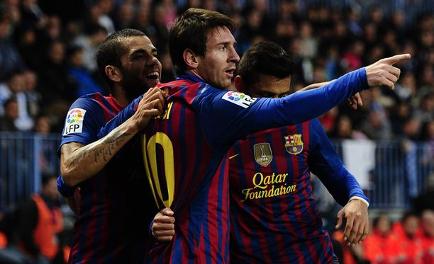 Messi osui Malagassa 33., 50. ja 80. minuutilla.