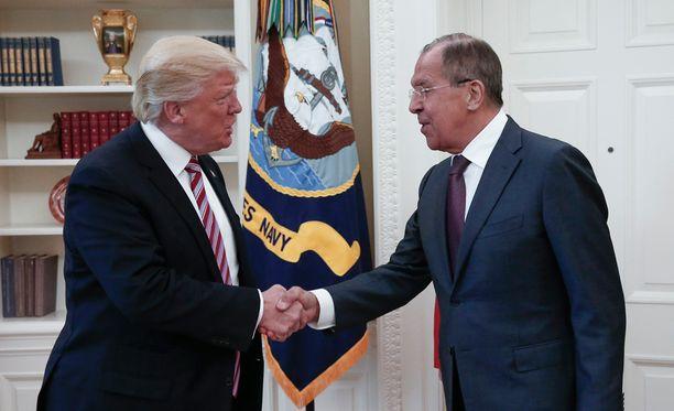 Yhdysvaltain presidentti Donald Trump ja Venäjän ulkoministeri Sergei Lavrov tapasivat Washingtonissa viime viikolla 10. toukokuuta.