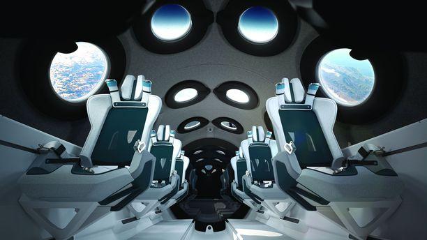 VSS Unityn sisustus kunnioittaa vanhoja scifi-leffoja.