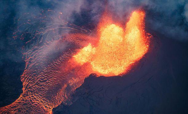 Havaijin pääsaari Big Islandilla sijaitseva Kilauea syöksi ilmoille valtavia laavamääriä 31. toukokuuta.