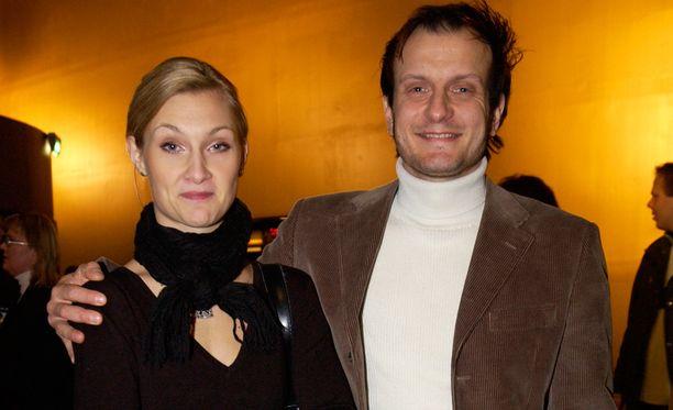 Teresa ja Hans Välimäki Levottomat 3 -elokuvan ensi-illassa vuonna 2004.