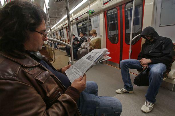 Kuvituskuva Pietarin metrosta.
