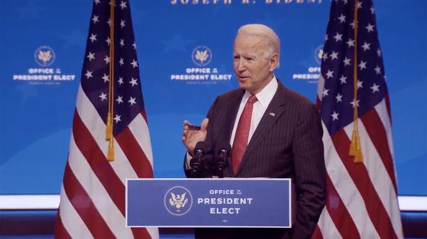 Bidenin presidenttikausi alkaa tammikuussa.