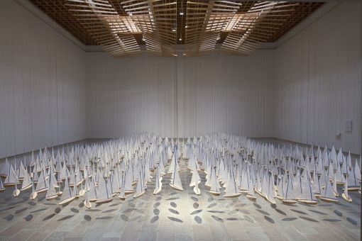 Jacob Hashimoton Armada on parhaillaan esillä Wäinö Aaltosen museossa.
