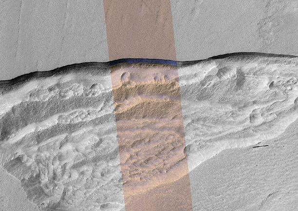 Jäälöydökset tehtiin planeetan keskiosista.