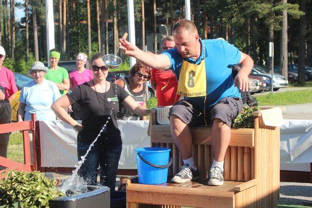Tommi Korpihalla voitti ensimmäiset Löylyn tarkkuusheiton MM-kilpailut vuonna 2014.