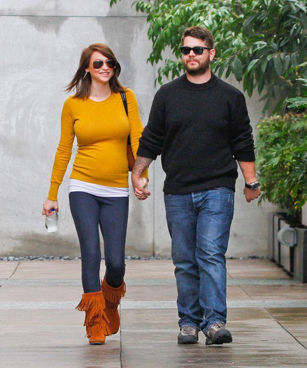 Jack Osbourne ja Lisa Stelly tammikuussa. Pari meni kihloihin viime syyskuussa.