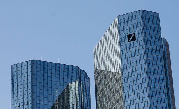 Deutsche Bankin pääkonttori Frankfurtissa.