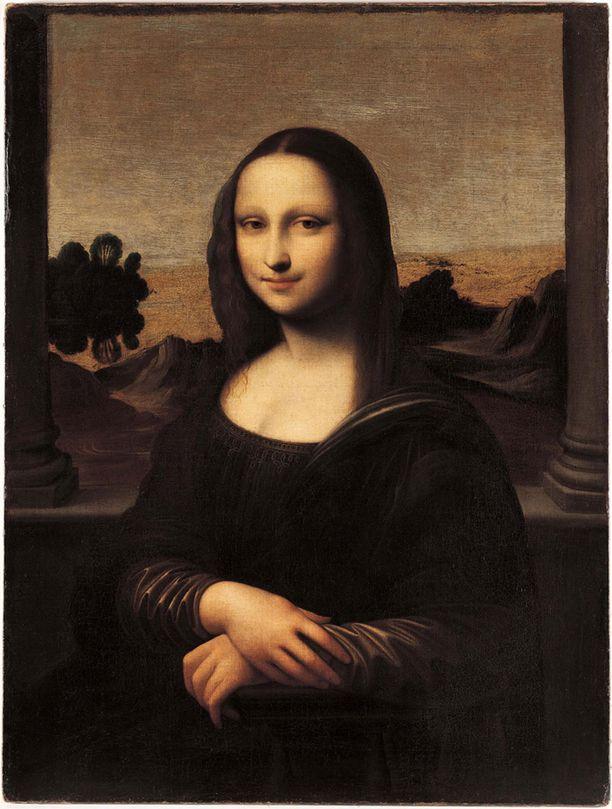 """Niin kutsuttu """"Isleworth Mona Lisa"""", jonka jotkut arvioivat olevan Leonardo da Vincin itsensä tekemä ja kuuluisan Mona Lisan varhaisempi versio."""