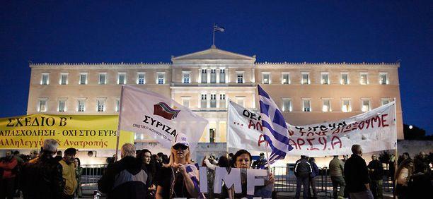 Mielenosoitus Kreikassa.