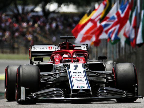 Kimi Räikkönen oli Brasilian GP:n aika-ajojen yhdeksäs.