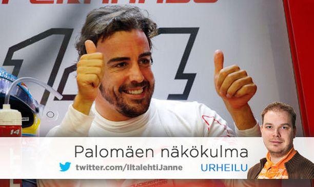 Fernando Alonso oli toiseksi nopein perjantaina. Se ei takaa vielä mitään.