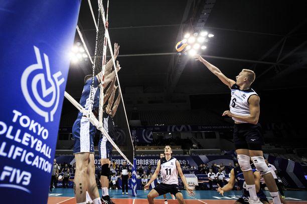 Olympiapaikka ei auennut Suomen lentopallomiehille.