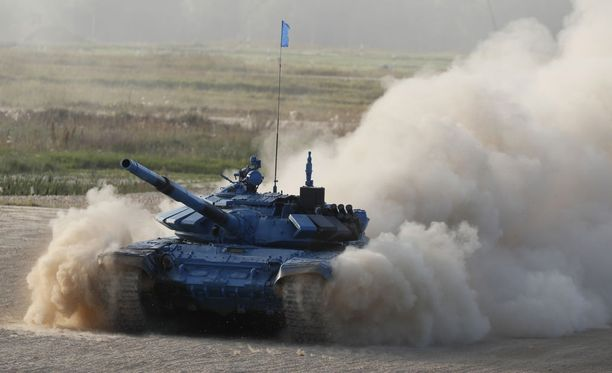 Kuvaa viime vuoden panssarivaunukilpailusta, jota pidetään kilpailujen näyttävimpänä tapahtumana.