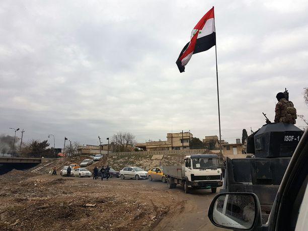 Irakin terrorismin vastainen erikoisyksikkö valvoo edelleen Itä-Mosulia ja osallistuu taisteluun terroristijärjestöä vastaan.